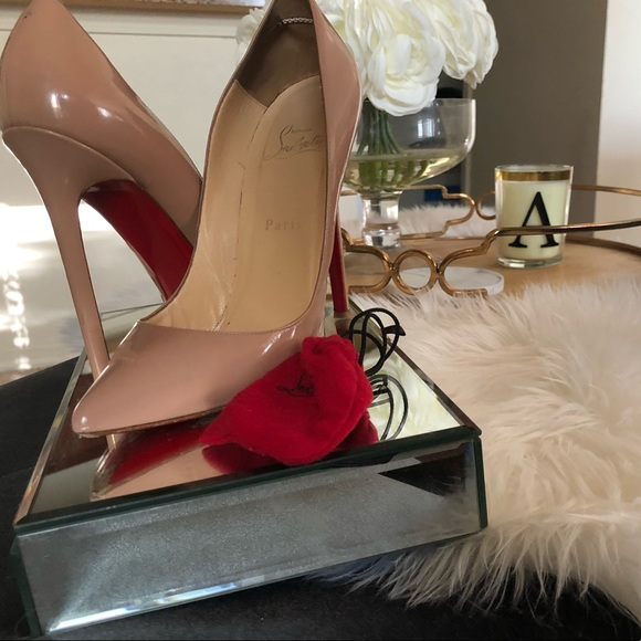 67950bcd91 Christian Louboutin Shoes | Pigalle 120mm Patent Nude 38 | Poshmark